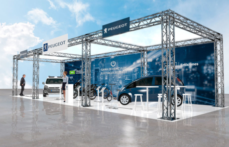 Stand Peugeot electrico